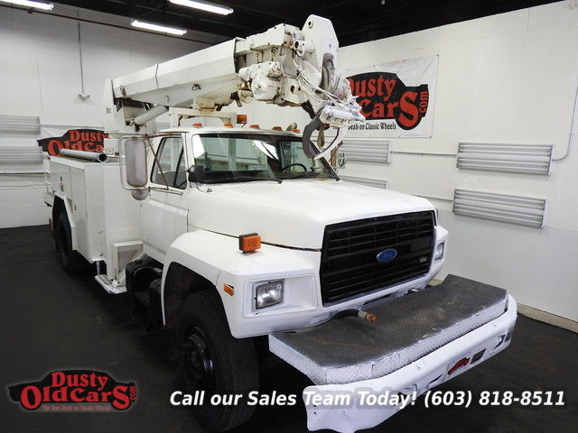 1987 Ford F-550 Runs Drives Hydraulics and Auger Work