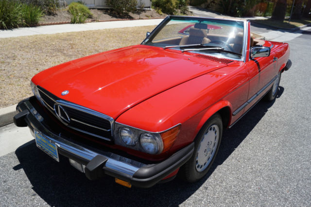 1988 Mercedes-Benz SL-Class CONVERTIBLE IN 'SIGNAL RED' WITH 80K MILES!