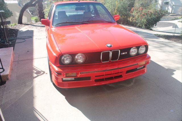 1988 Bmw E30 M3 Henna Red Rare Color California Car