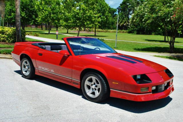 1988 Chevrolet Camaro Iroc-Z Convertible V8 77k miles ...