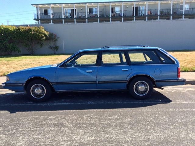 1988 Chevy Celebrity Vintage Station Wagon Blue