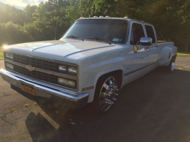 1988 chevy dually, lowered squarebody, c30 for sale: photos