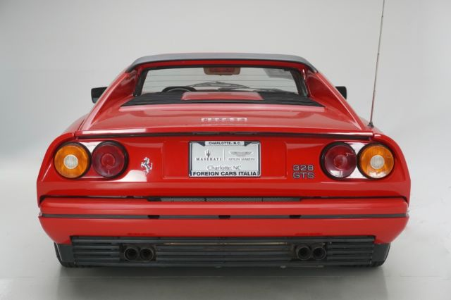 1988 Red Ferrari 328GTS GTS 328GTS with Tan interior