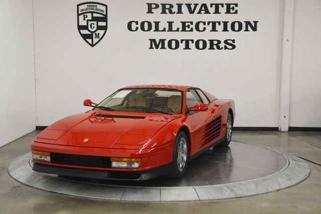 1988 Ferrari Testarossa Fresh Major Engine Out Service Service History