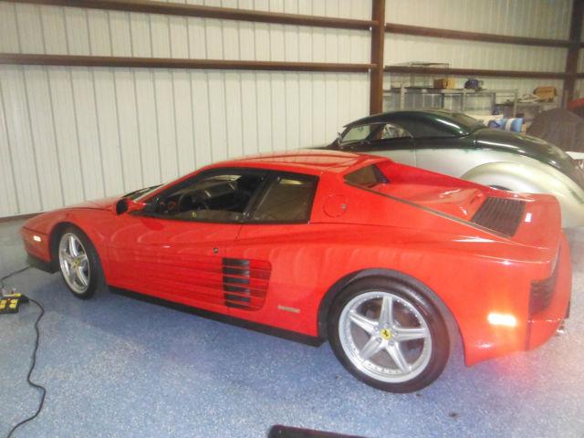1988 Ferrari Testarossa Corsa Red With Rare Black Interior For Sale