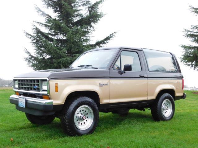 1988 Ford Bronco II XLT Sport Utility 2-Door 2.9L Very Low ...