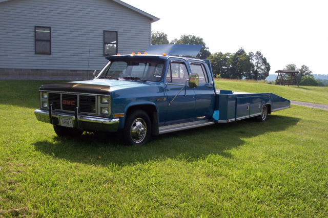 1988 Gmc 3500 4 Door Crew Cab Car Hauler Hodges Bed Wedge Bed Ramp