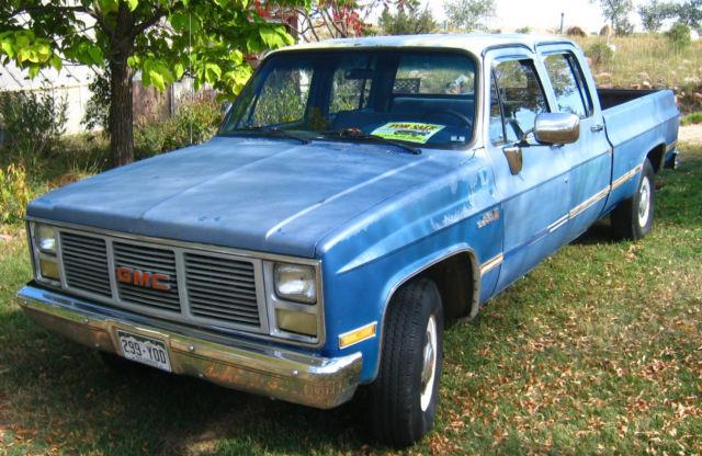1988 gmc r2500 crew cab square body 34 ton gear vendor