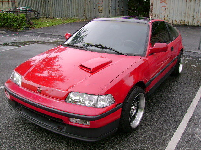 1988 honda crx si coupe 2 door 1 6l red for sale photos technical specifications description. Black Bedroom Furniture Sets. Home Design Ideas
