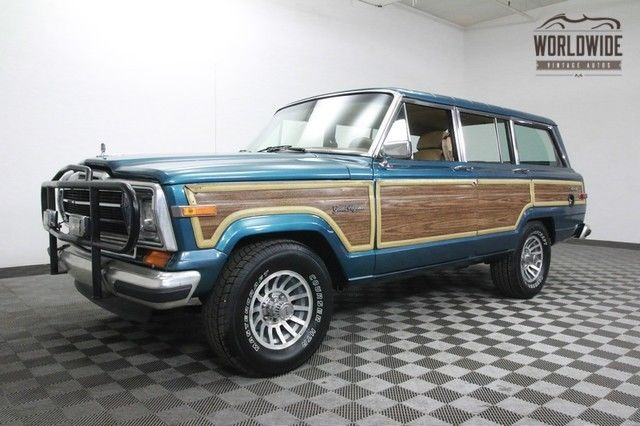 1988 jeep grand wagoneer rare spinnaker blue rebuilt collector for sale photos technical specifications description topclassiccarsforsale com