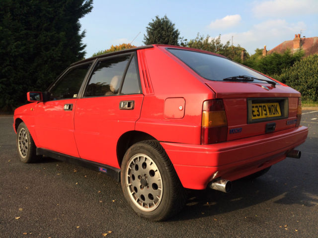 1988 lancia delta integrale hf 8v italian exotic rally car turbo all wheel drive for sale. Black Bedroom Furniture Sets. Home Design Ideas