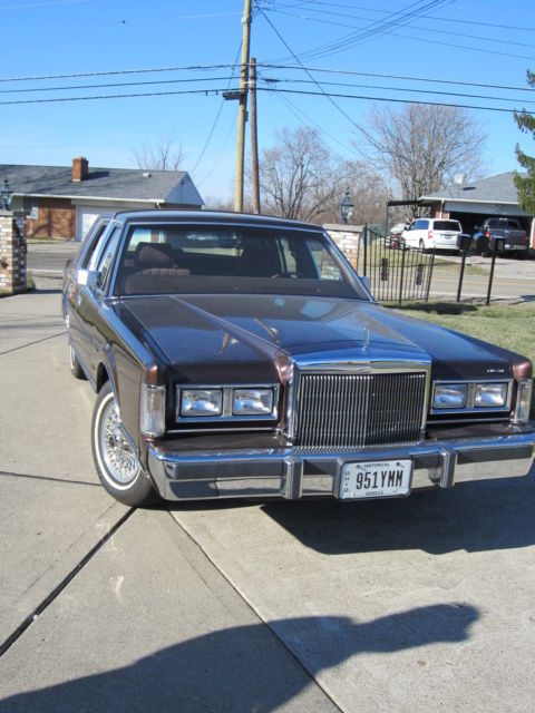 1988 Lincoln Town Car One Owner 36000 Miles Mint For Sale Photos