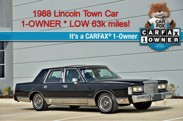1988 Lincoln Town Car LOW 63k miles * 1-OWNER * 5.0L V8 * NO RESERVE