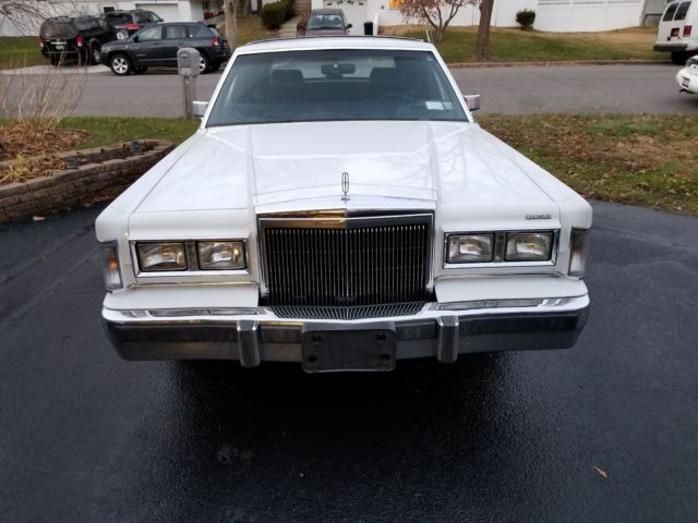 1988 Lincoln Town Car White For Sale Photos Technical