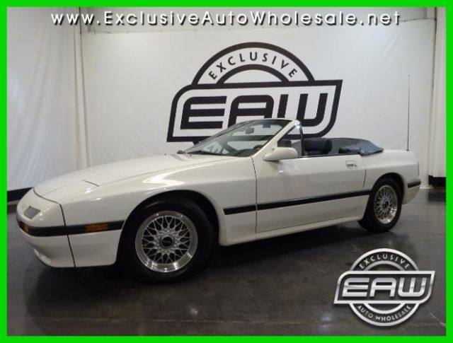 1988 Mazda RX-7 OVER BLUE LEATHER 1 owner original window sticker!