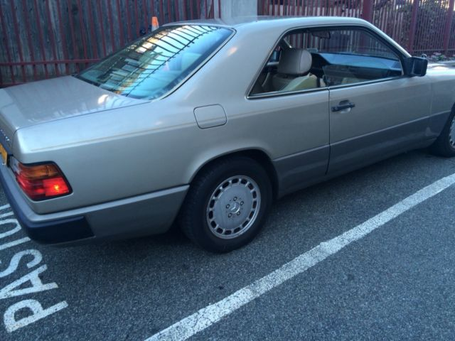 1988 Silver tan Mercedes-Benz 300-Series 300CE Coupe with Tan interior