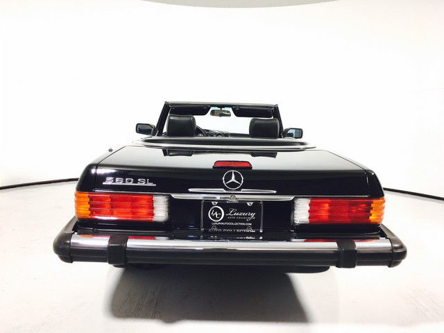 1988 Black Mercedes-Benz 500-Series 560SL Convertible with Black interior