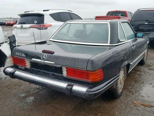 1988 Black Mercedes-Benz 500-Series 560SL/ CLEAN TITLE CONVERTIBLE with Red interior