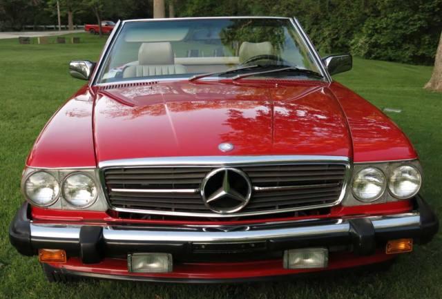 1988 Mercedes Benz 560sl 560 Sl Signal Red Original Paint