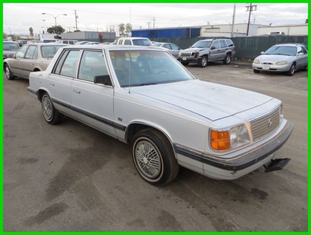 1988 Plymouth Reliant K Used 25l I4 8v Automatic No Reserve For Rhtopclassiccarsforsale: 1988 Plymouth Reliant Radio At Gmaili.net