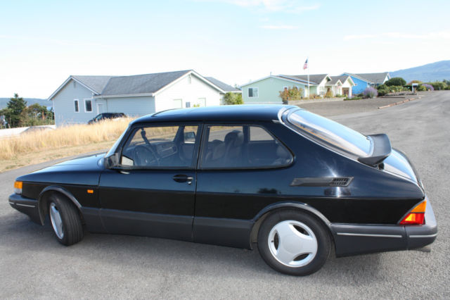 1988 Saab Spg Turbo Black With Grey Leather Interior For