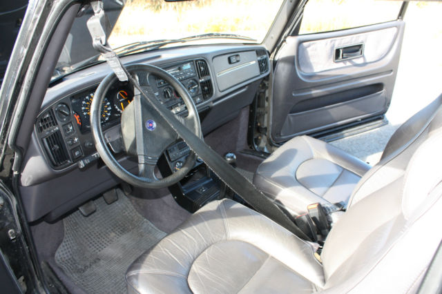 1988 Saab Spg Turbo Black With Grey Leather Interior For Sale Photos Technical
