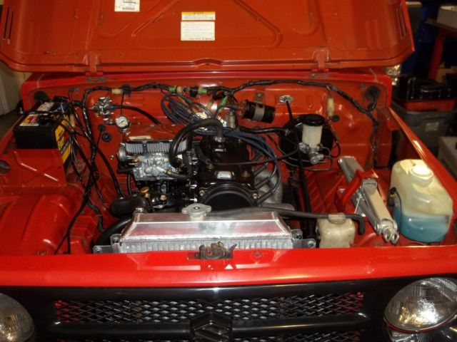 1988 Red Suzuki Samurai Convertible with Gray/Black interior