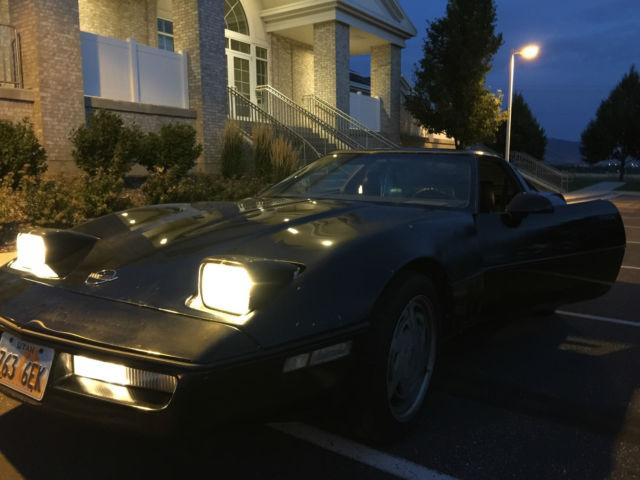 1989 Black C4 Corvette Coupe, Removable Top, Loud Exhaust