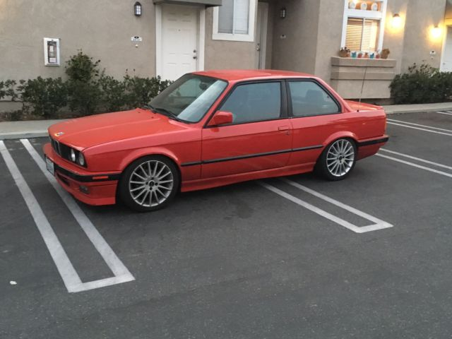 1989 BMW 325i E30 Model 2Door Coupe Red with Black Very Nice for