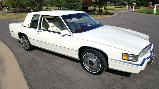 1989 Cadillac Coupe Deville SPRING Edition Triple White SPOTLESS 3x