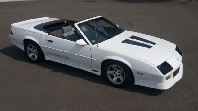 1989 Camaro Iroc Z Convertible New Top Nice Interior California Car