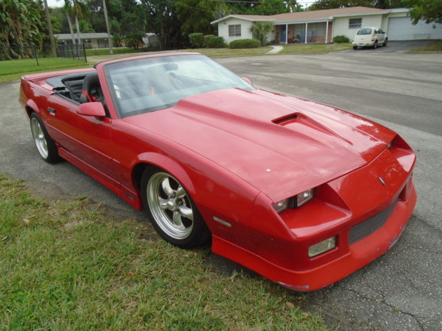 1989 chevrolet camaro rs convertible red bad ass for sale photos technical specifications. Black Bedroom Furniture Sets. Home Design Ideas