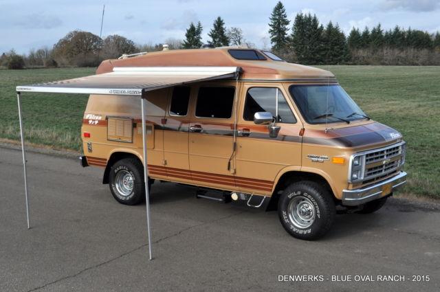 4x4 Rv For Sale >> 1989 Chevrolet G20 Falcon Intervec 4x4 Motorhome Camper Van RV Wagon Chevy K5 GM for sale ...