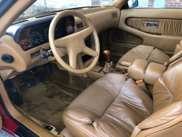 1989 Red Chrysler TC Maserati Convertible with Tan interior