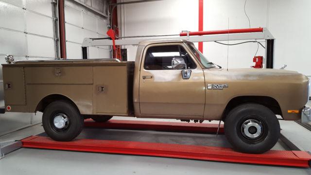 1989 dodge d250 power wagon utility truck 4x4 3 4 ton ram for sale photos technical. Black Bedroom Furniture Sets. Home Design Ideas
