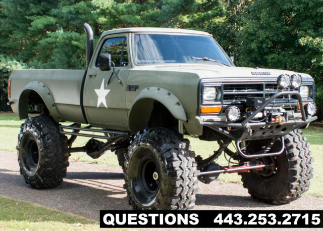 1989 Dodge Ram 2500 Mud Truck Monster Truck For Sale Photos