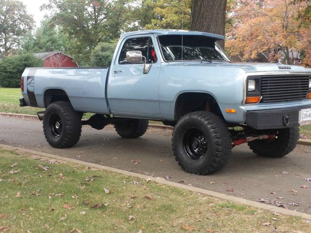 1989 dodge ram cummins 5 9l turbo diesel pickup 4wd for. Black Bedroom Furniture Sets. Home Design Ideas