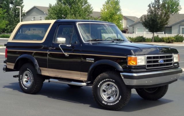 1989 ford bronco eddie bauer black rust free low mileage excellent condition for sale photos. Black Bedroom Furniture Sets. Home Design Ideas