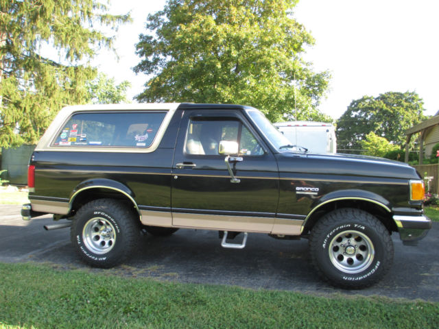 1989 Ford Bronco Eddie Bauer Brown 4x4 for sale photos technical