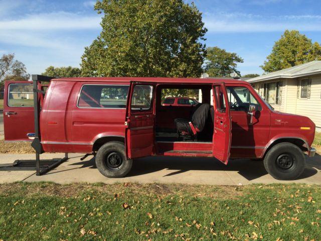 1989 Ford E 350 Econoline Club Wagon Xlt Extended Passenger Van 2 Door 4 9l For Sale Photos