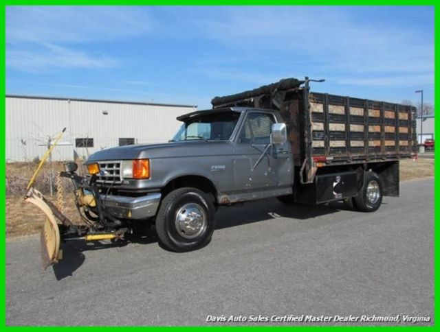 1989 Ford F-450 Automatic Trans Tool Box Commercial Flat Bed Work