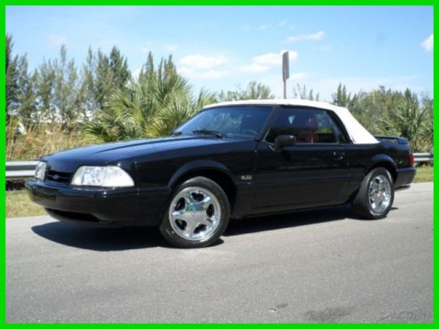 1989 Ford Mustang LX 5.0 CONVERTIBLE 5 SPEED MANUAL SUPER CLEAN CAR