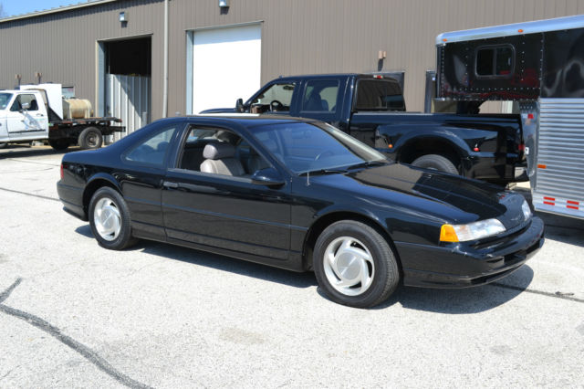 1989 Ford Thunderbird Super Coupe Black Like New 1 Owner Leather 6 Cylinder