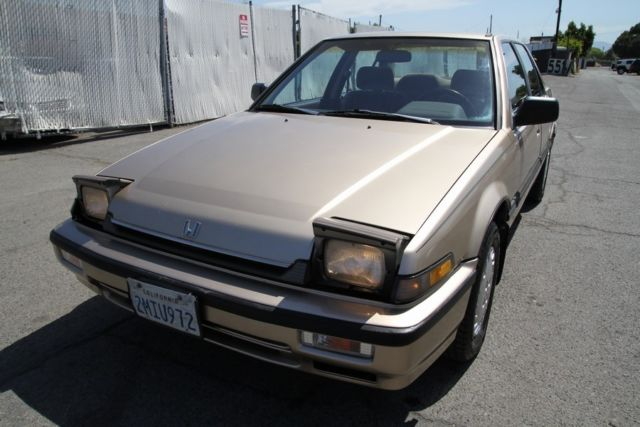 1989 honda accord lx-i manual 4 cylinder no reserve for sale.