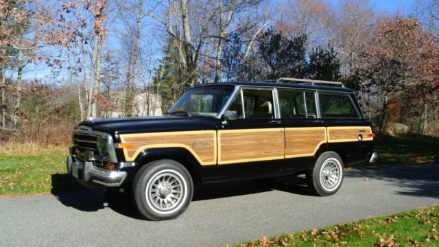 1989 jeep grand wagoneer 51 000 miles black tan interior for sale. Cars Review. Best American Auto & Cars Review