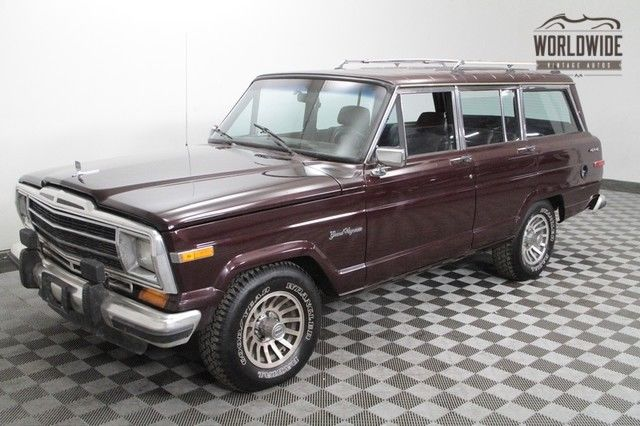 1989 Jeep Wagoneer RARE 'WOODGRAIN DELETE'! INCREDIBLE SHAPE!