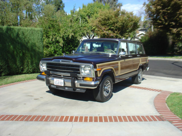 1989 jeep wagoneer 90k original miles rust free 1991 1990. Black Bedroom Furniture Sets. Home Design Ideas