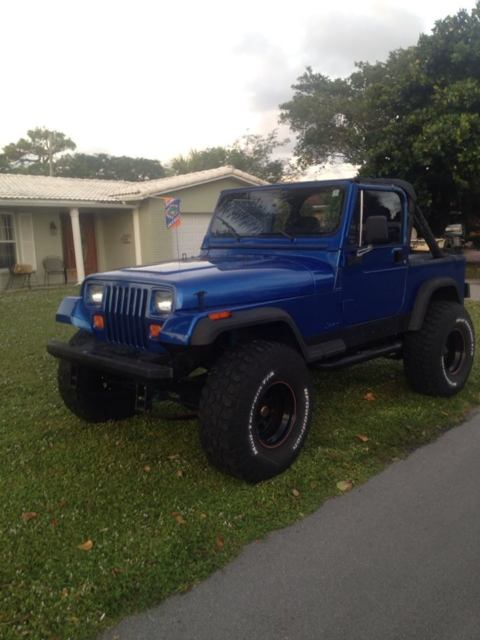 1989 jeep wrangler base sport utility 2 door 4 2l 4x4 lifted low miles for sale photos. Black Bedroom Furniture Sets. Home Design Ideas