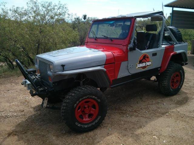 1989 jeep wrangler jurassic park edition rock crawler yj for sale photos technical. Black Bedroom Furniture Sets. Home Design Ideas