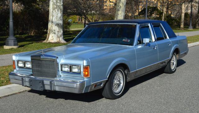 1989 Lincoln Town Car Signature Series 4d Sedan For Sale Photos